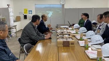 伊原木県知事が視察に来られました!