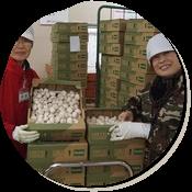ミツクラ創業以来、約40年間勤めている益田さんと武道さん。